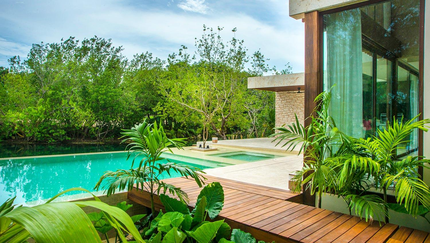 Luxury homes located in the Exclusive Mayakoba Residences