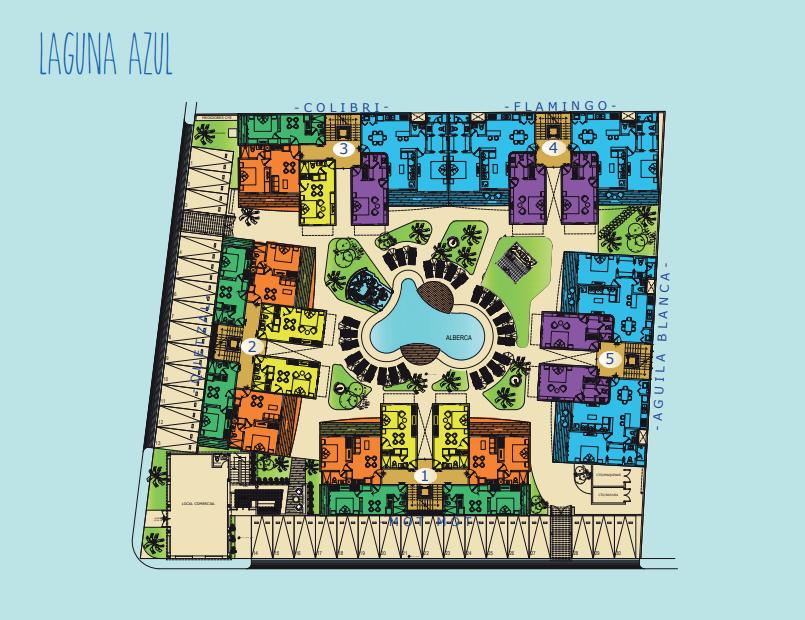 Laguna Azul Tulum - Where Paradise awaits Master Plan