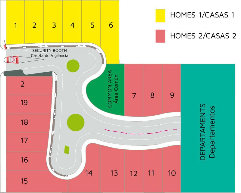 Coralline - Privada Residencial - Casas y Departamentos