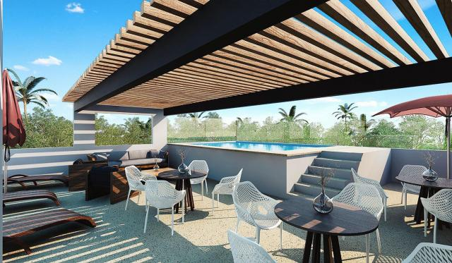 Great studio only steps from 5th avenue coco beach for Actual studio playa del carmen
