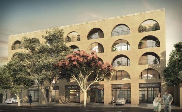 Hacienda style Lovely one-bedroom condo in development process