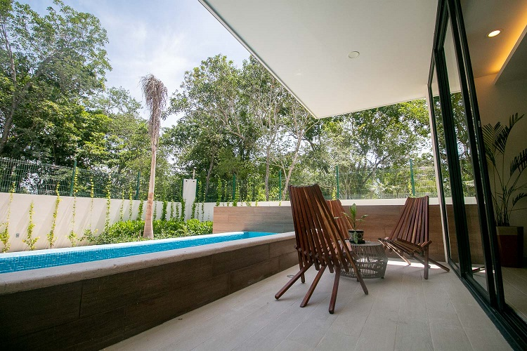 Santos - Condos with private pool in Aldea Zama, Tulum.
