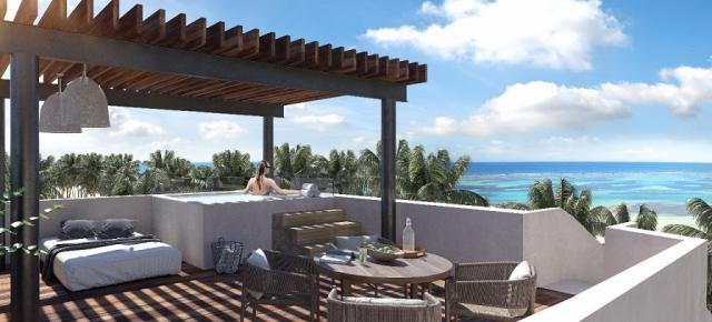 Incredible 2 bedroom penthouse in Mahahual property for sale