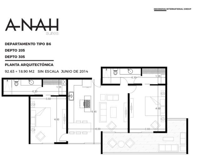 2-br-condo-playa-del-carmen-Anah-Floorplan-Floorplan