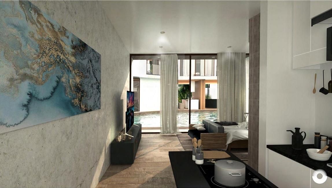 1 bedroom condo in Holistika.