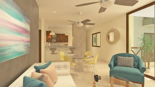 Luxurious condo in new development in second row in Chicxulub property for sale