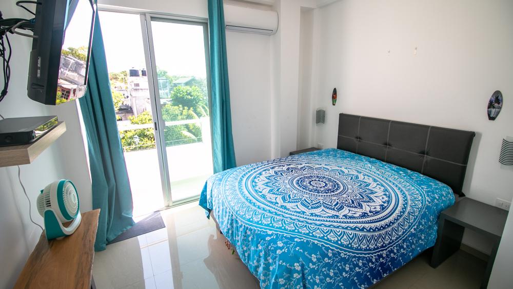 1-bedroom-Condo-near-the-Fifth-Avenue-Playa-del-Carmen-Bedroom