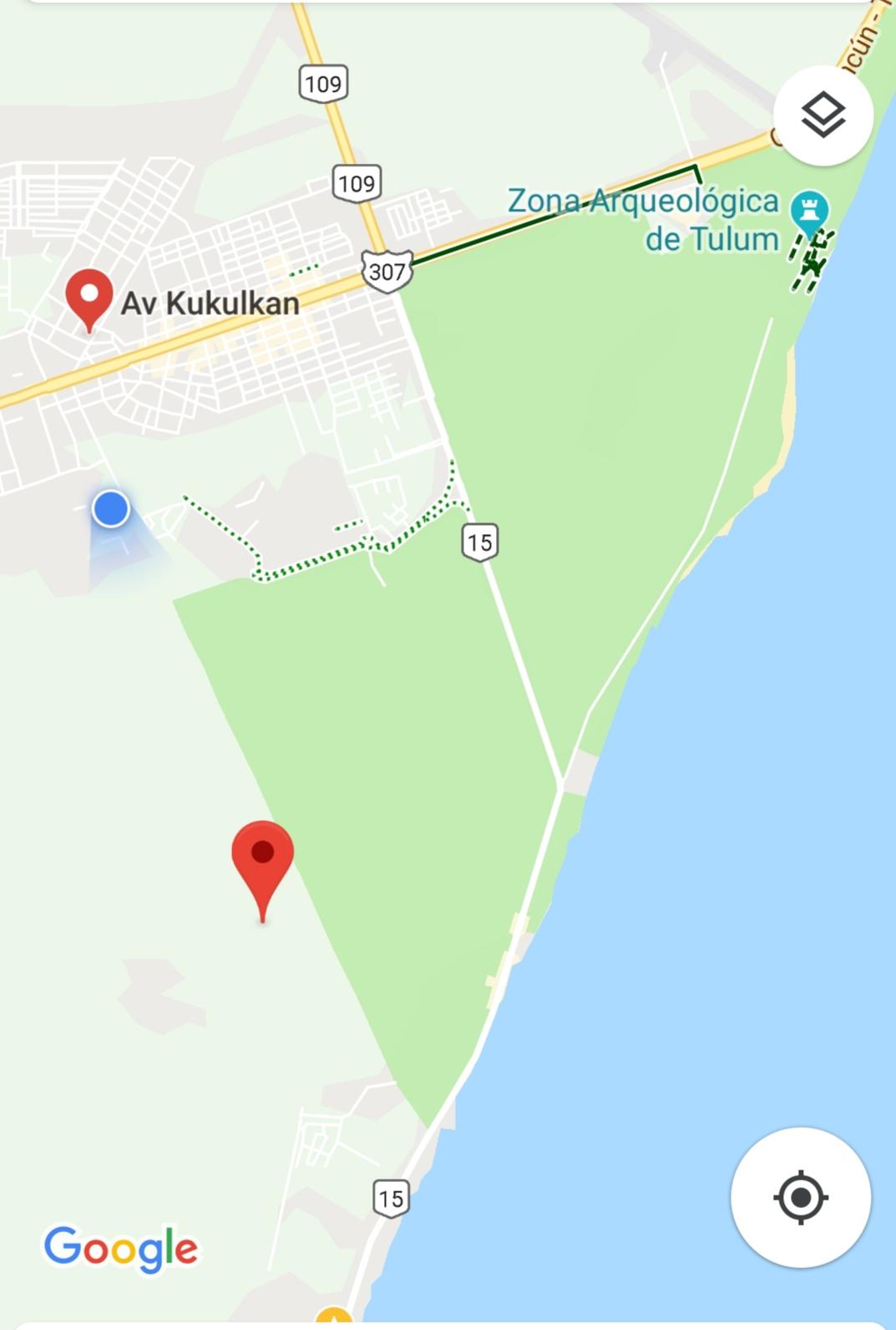 Lot in a great zone Region 15 in Tulum 9687.52 sqf from Kukulkan property for sale