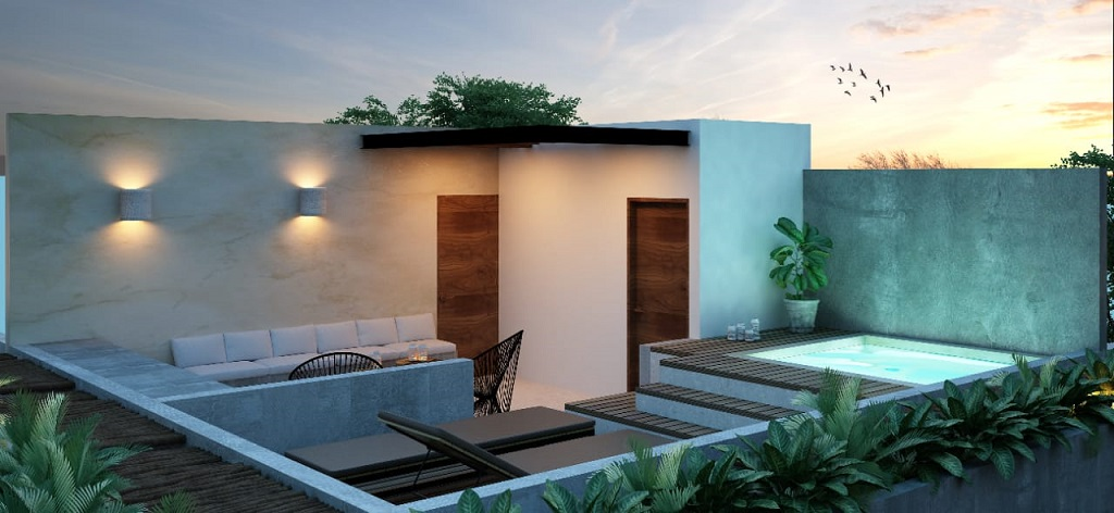 21235 Stunning 1 bedroom penthouse in Region 15 in Tulum, overlooking  - Condo