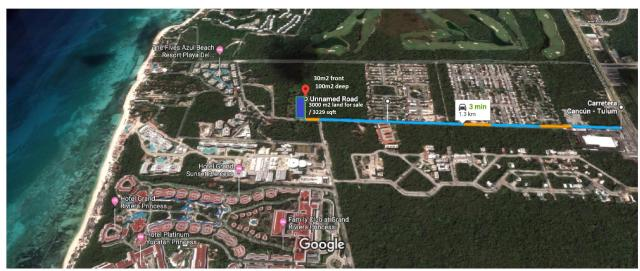 XCALACOCO Land 3000 M2 property for sale