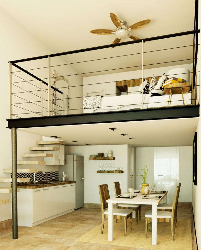 Beautiful Loft with Mezzanine, Great location! property for sale