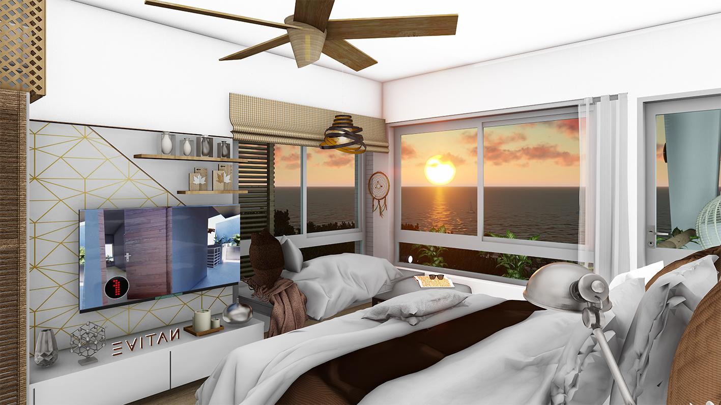 Stunning 1 bedroom luxury condo near the sea