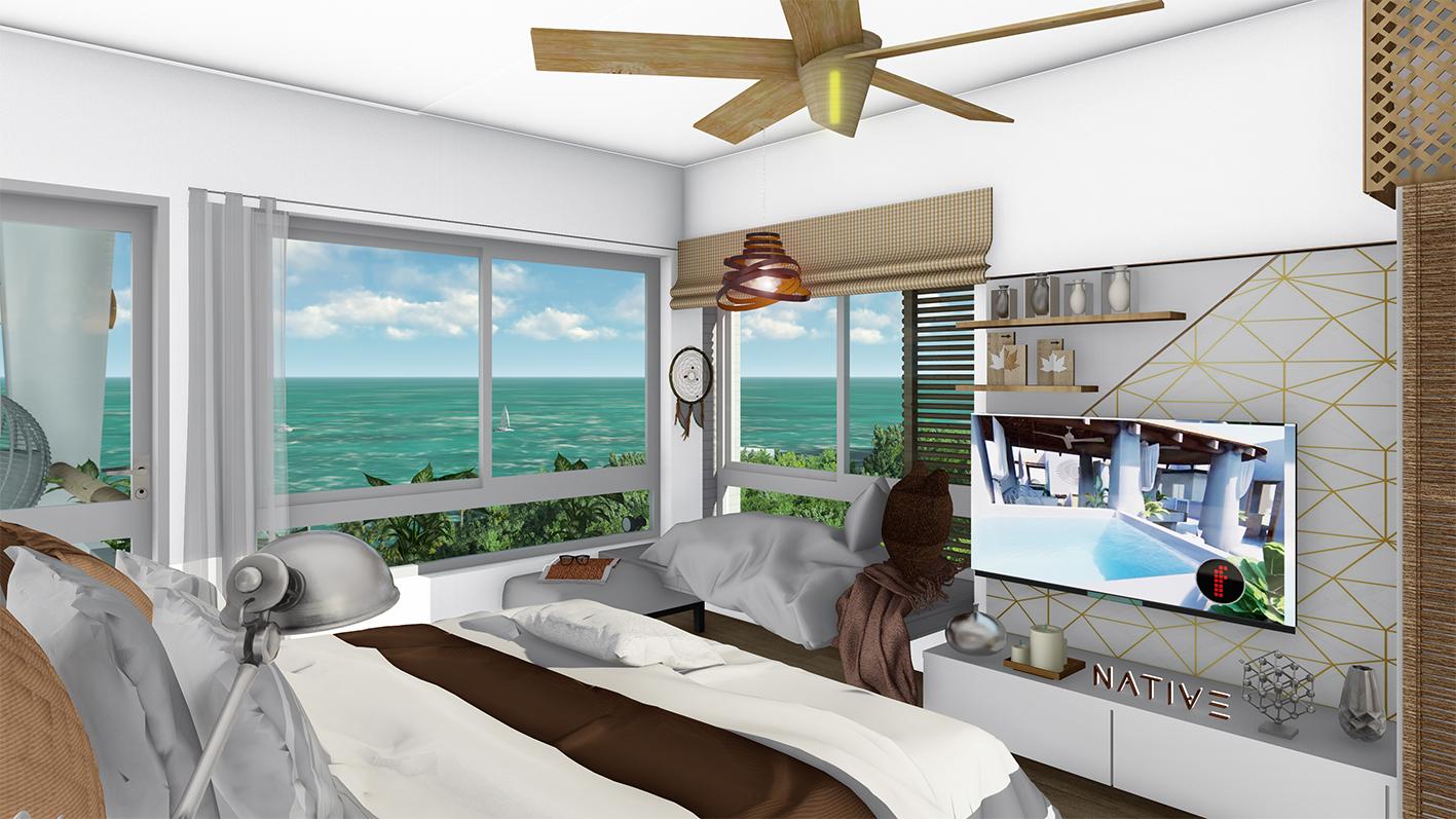 Stunning 2 bedroom condo near the sea in Cozumel