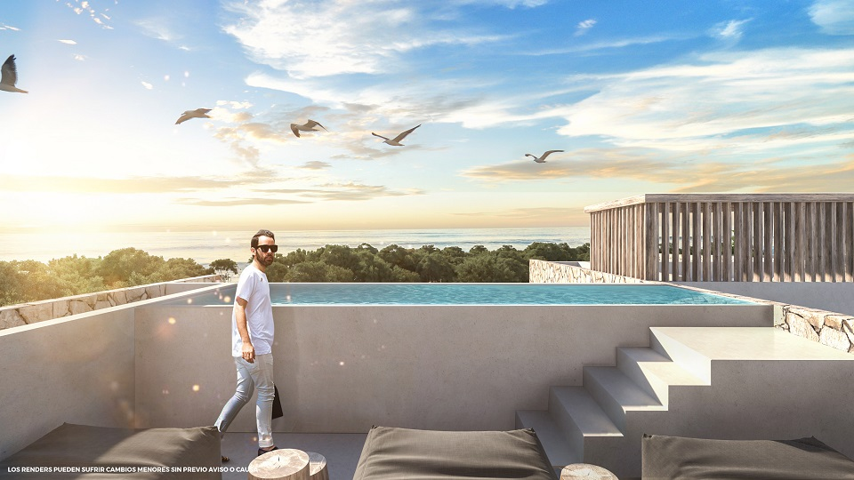 3 bedroom penthouse in Akumal