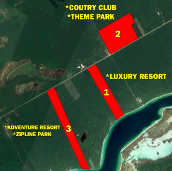 Land for sale in front of bacalar lagoon