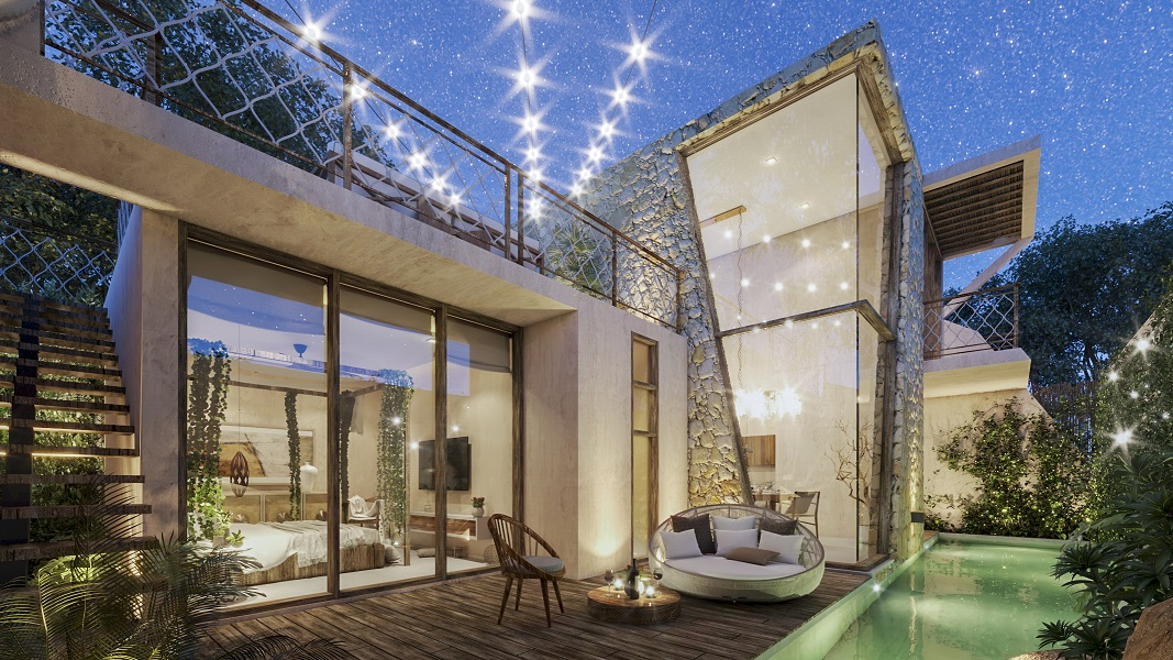 3 bedroom house in Tulum with Sky Views