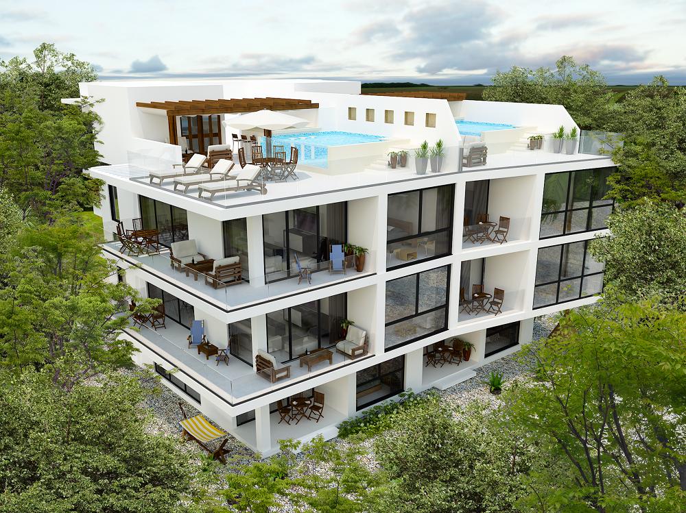 2 bedroom condo with terrace
