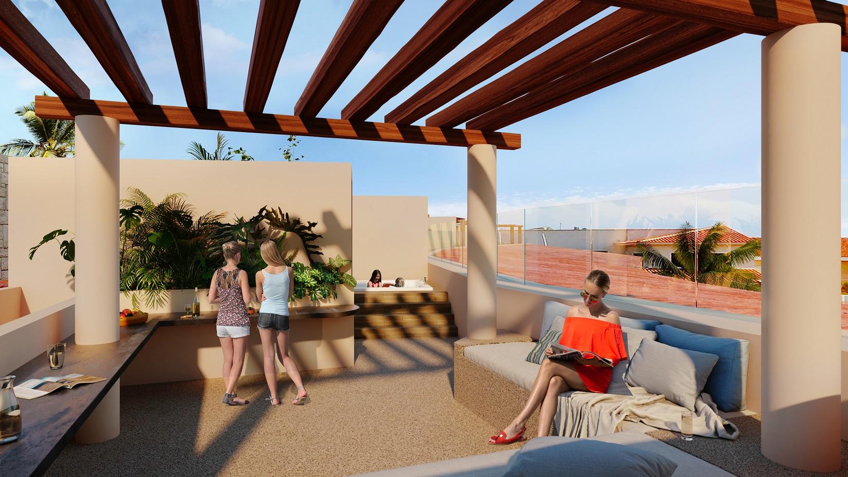 3 bedroom penthouse in Puerto Aventuras