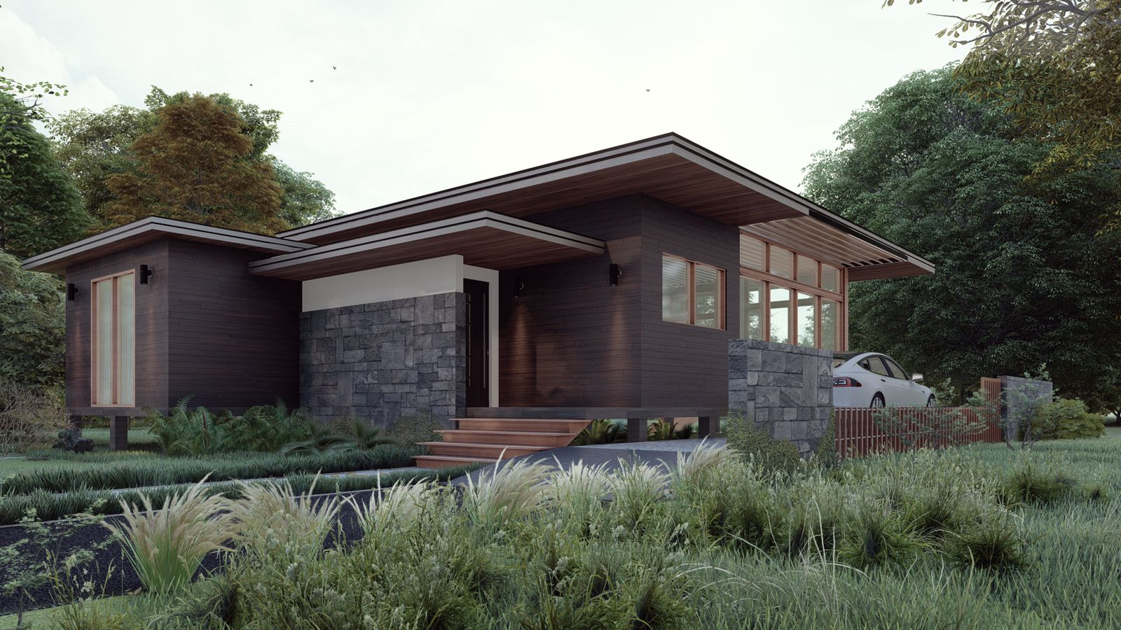 Two bedroom house in sustainable development