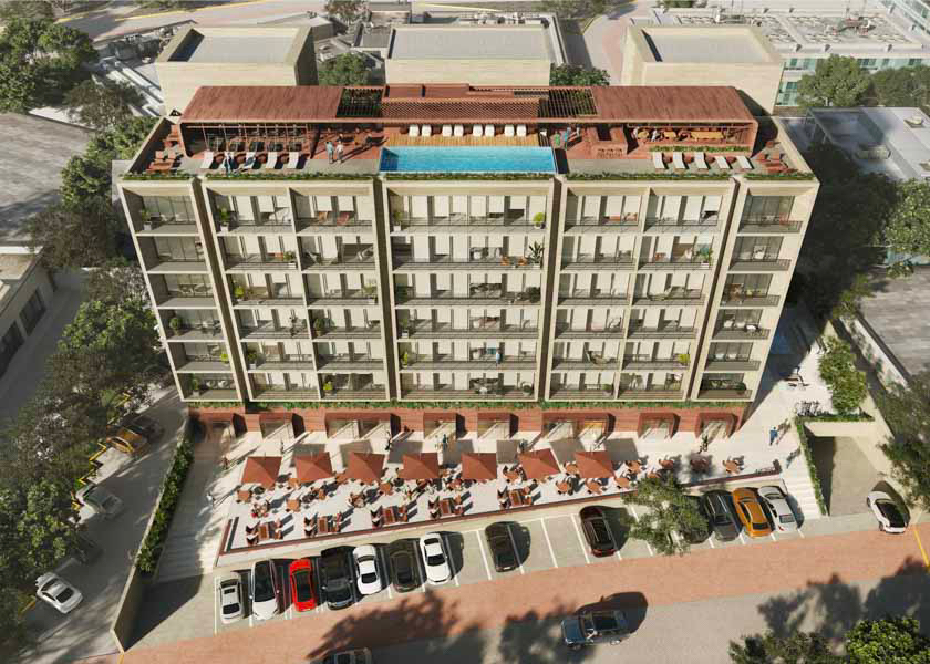 2 bedroom condo with terrace in Cancún