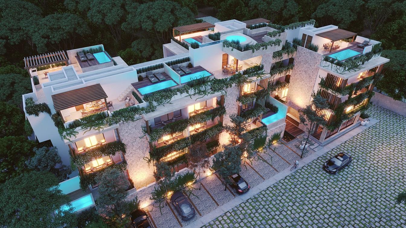 1 bedroom condo with cozy terrace.